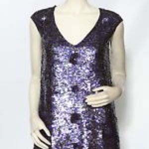 French Connection Sequin Shift Dress, 6